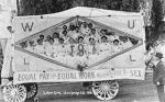 The Women's Union Label League parades for women's equal pay in San Diego's Labor Day Parade, 1910. Women have been at the equal pay thing for a while.